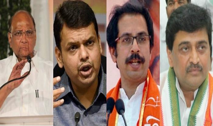 Sharad Pawar, Devendra Fadnavis, Uddhav Thackeray, Ashok Chavan (L-R)