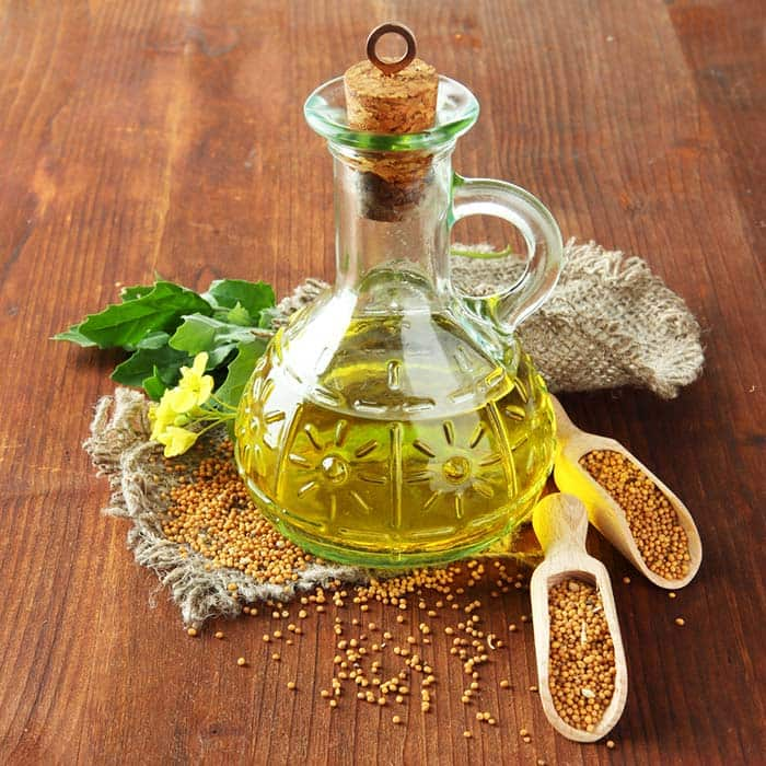 Apply mustard oil to your belly button