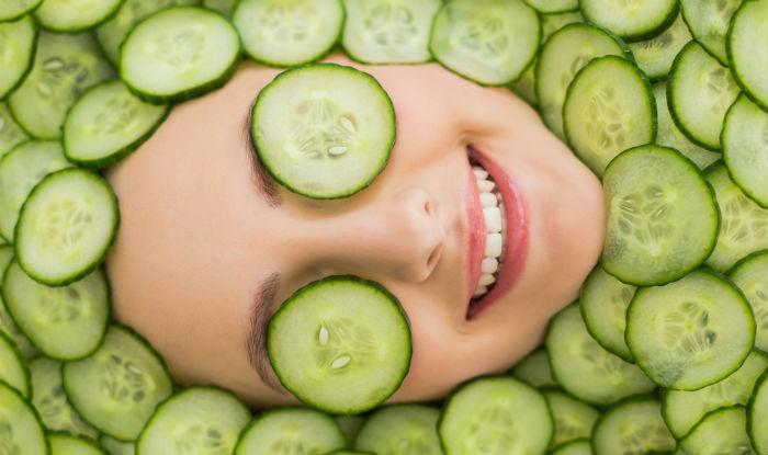 Cucumber facial cleanser