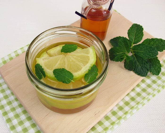 apple cider vinegar and mint
