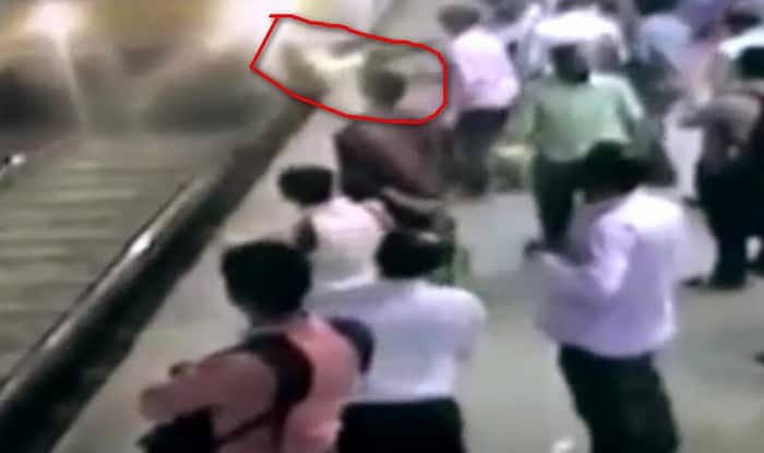 Shocking Video: 24-year-old woman pushed to death under local train by chain snatcher!