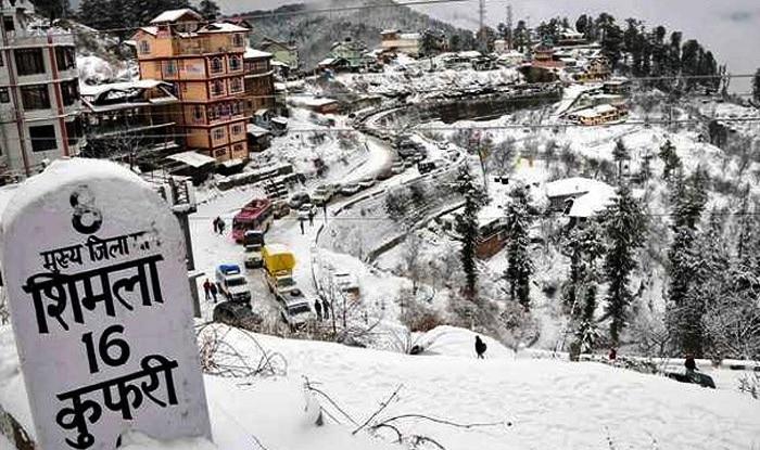 Himachal Pradesh: Shimla turns white with fresh snowfall, temperature dips  to 3 Degree Celsius   India.com