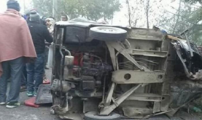 Uttar Pradesh: 8 dead on spot as ambulance rams into a parked truck