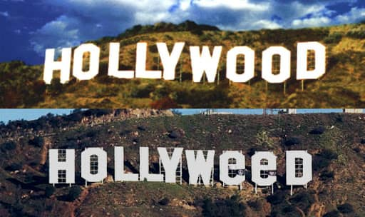 Hollywood sign in Los Angeles vandalized to Hollyweed! Images go viral on the social media