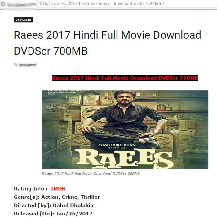Raees full movie free download online watch Shah Rukh Khan