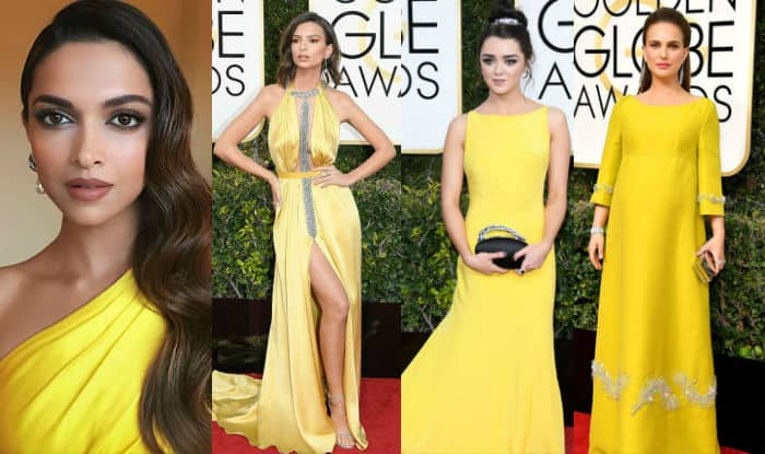 Golden Globes 2017: Deepika Padukone joins Hollywood beauties in the yellow brigade at the 74th Golden Globe Awards