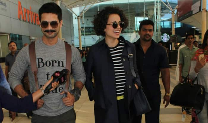Rangoon actor Shahid Kapoor clears the air around his tiff with co-star Kangana Ranaut!