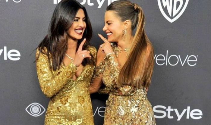 Ahem! Priyanka Chopra and Sofia Vergara get too close in the elevator at the Golden Globes 2017! (Watch video)
