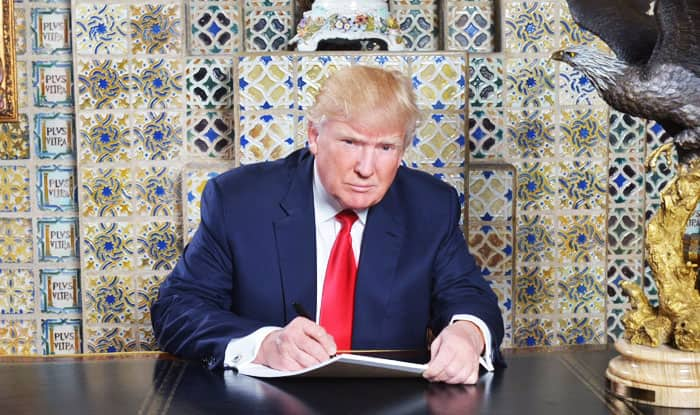 LOL! Donald Trump trolled for tweeting photo of him writing Inaugural speech!
