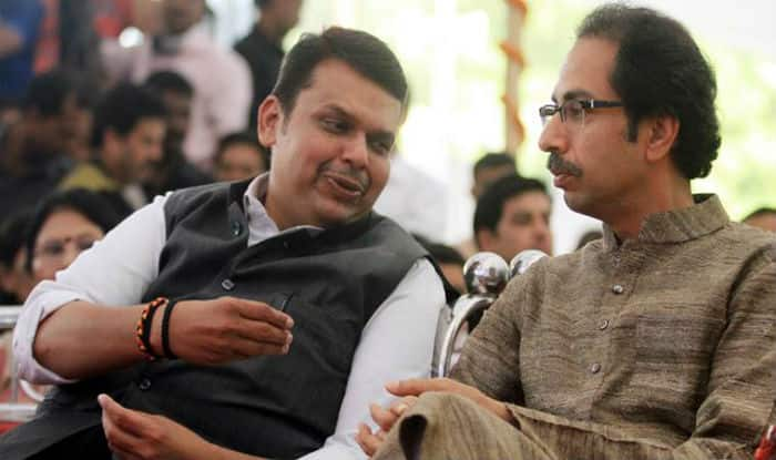 Maharashtra CM Devendra Fadnavis with Shiv Sena supremo Uddhav Thackeray (file image)