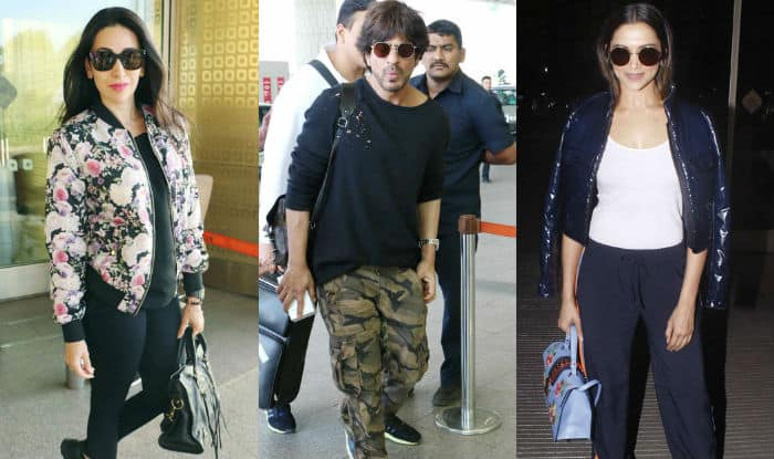 Airport style files: Shah Rukh Khan, Deepika Padukone and Karisma Kapoor fly in style!