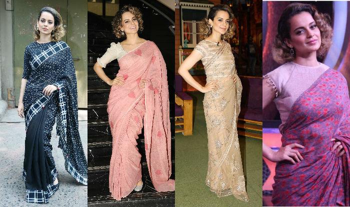 Kangana Ranaut's top 8 immaculate saree looks for Rangoon promotions ! View Pics!