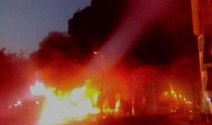 Dozen vehicles gutted in fire at petrol pump in Kota