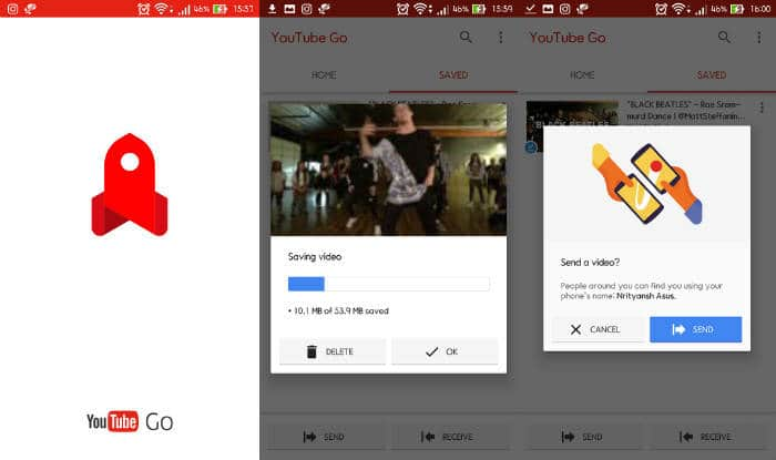Youtube Go available for beta use in India now, watch and