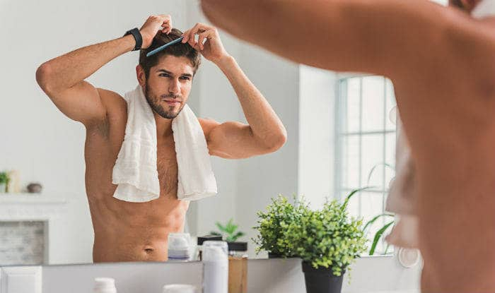 Brushing your hair