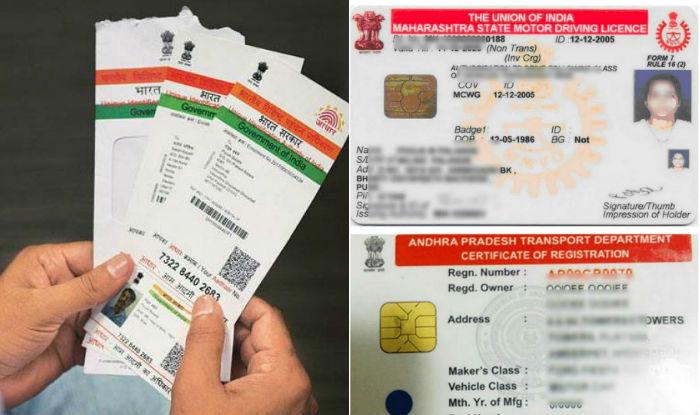 Aadhaar Card - Driving Licence