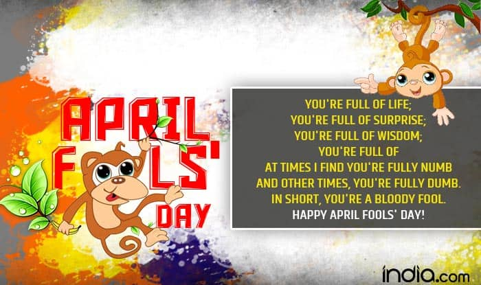 April Fools Day 2017 SMS