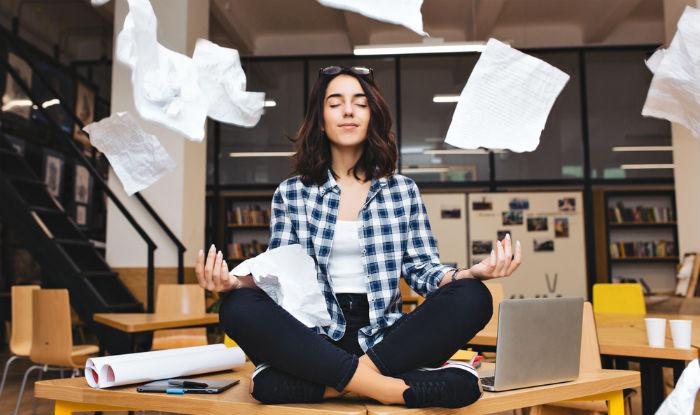 Meditation student