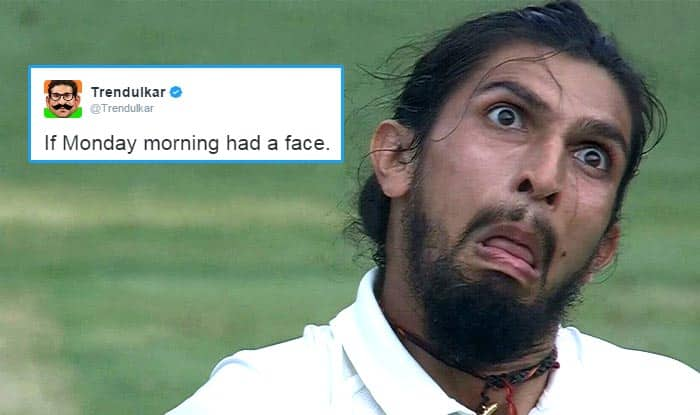 Ishant Sharma's face mocking Steve Smith in Ind vs Aus 2nd test match is the best representation of Monday mornings!