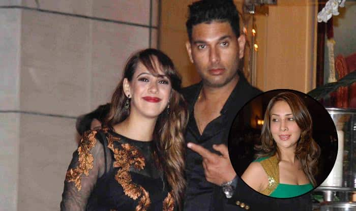 Did Yuvraj Singh's wife Hazel Keech make an exit from the party because of husband's ex girlfriend Kim Sharma?