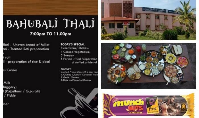 Baahubali 2 fever grips nation! Baahubali Thali, Chocolates, Crackers, Phone, Bahubali College of Engineering found!