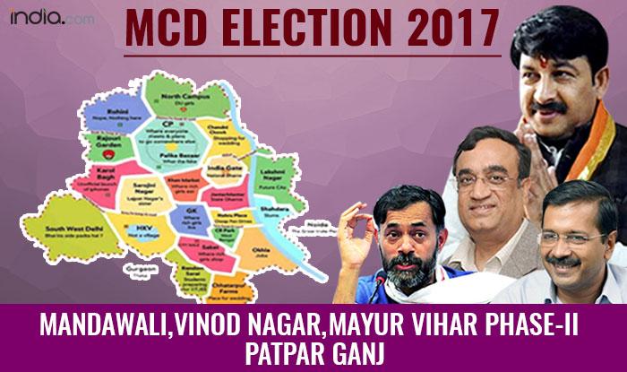 MCD Elections 2017: BJP wins Mandawali, Mayur Vihar Phase-2, Patparganj wards; AAP wins Vinod Nagar ward