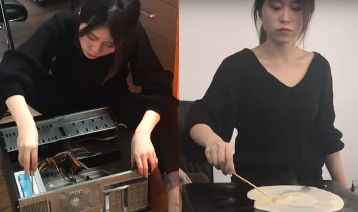 Chinese woman becomes an internet sensation by cooking delicious food using office supplies! WATCH VIDEO