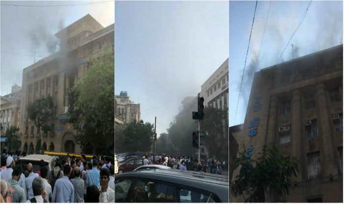 Mumbai: Fire breaks out at Bank of India's Fort branch, 5 fire tenders at spot