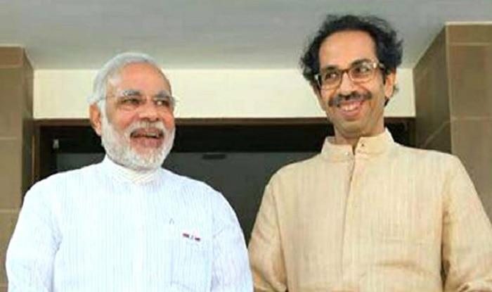 PM Modi with Shiv Sena chief Uddhav Thackeray.