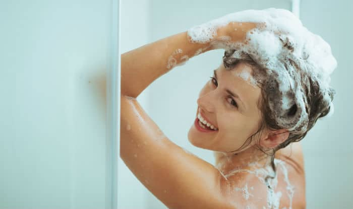 Apply perfume right after taking a hot shower