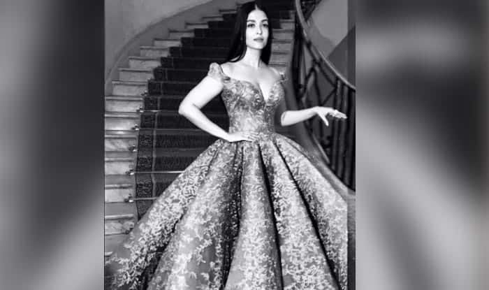 Aishwarya Rai Bachchan in her day 1 red carpet gown looks like a character right out of a Jane Austen novel