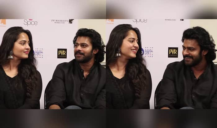 Anushka Shetty's reaction to Prabhas' Hindi is beyond adorable! Watch video