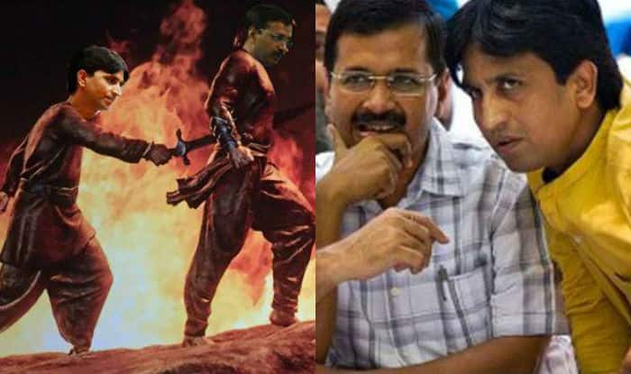 Kumar Vishwas-Arvind Kejriwal's AAP crisis over but Bahubali 2 inspired Kattappa killed Baahubali meme seems like a memorable affair!