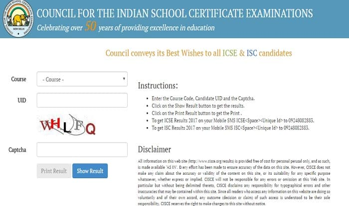 cisce org ISC and ICSE Results 2017 Declared: Check your