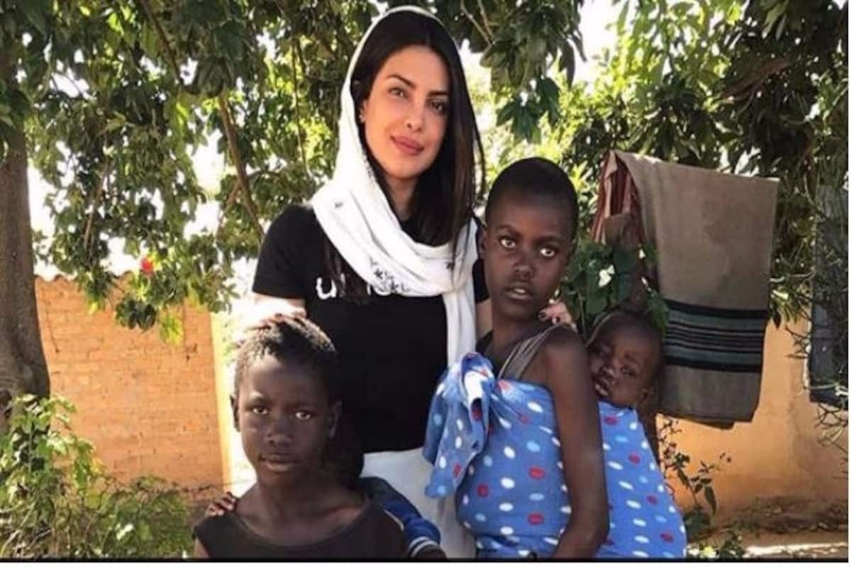 Priyanka Chopra Shares Heartwarming Video Of Being Petted By Young African Children Says We Are All Beautifully Different Watch Video India Com
