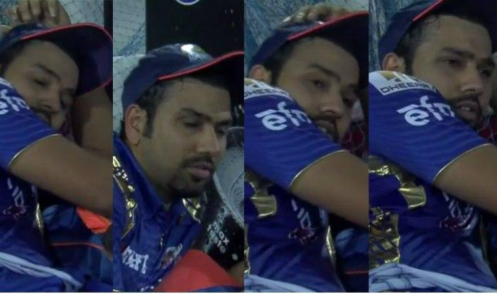 Was Rohit Sharma sleeping during RPS vs MI IPL 2017 final? Watch video