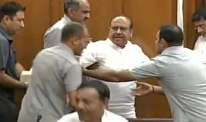 Delhi assembly session: BJP's Vijendra Gupta evicted after he created ruckus in house