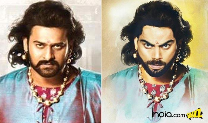 Virat Kohli as Bahubali 2 movie star Prabhas! Indian Cricket Captain looks regal in this Baahubali avatar sketch