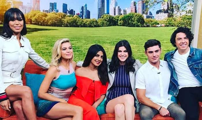 Priyanka Chopra begins Baywatch promotions and she is missing Dwayne Johnson – view pics