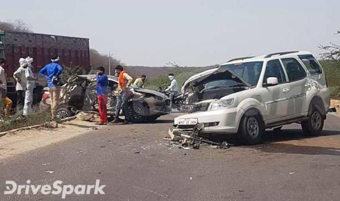 Both, the Maruti Suzuki DZire & Tata Safari Storme seem to be 'Totaled'.