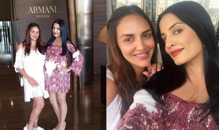 Pregnant Bollywood actresses Celina Jaitly & Esha Deol flaunt their baby bumps together in Dubai! See pictures