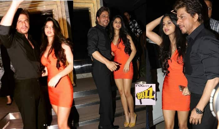 Shah Rukh Khan's daughter looks Bollywood ready! See pictures of Suhana with Dad at Mumbai