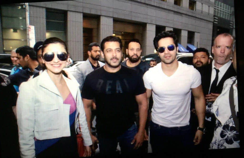 IIFA 2017: Salman Khan, Alia Bhatt And Varun Dhawan Are All Smiles As They Meet Up In New York