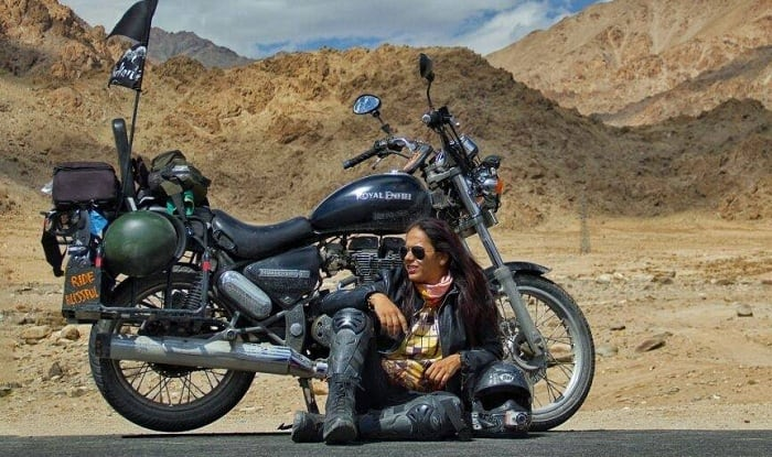 A 36-year-old woman biker from Bandra