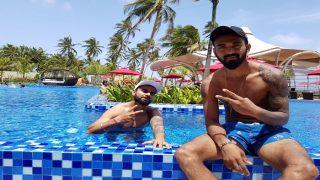 Virat Kohli Enjoys Day Off, Relaxes With KL Rahul in Swimming Pool