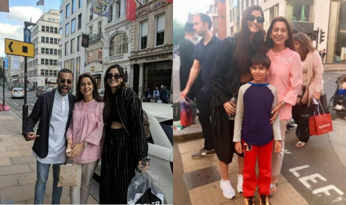 Sonam Kapoor and Anand Ahuja hangout with Juhi Chawla in London (View pics)