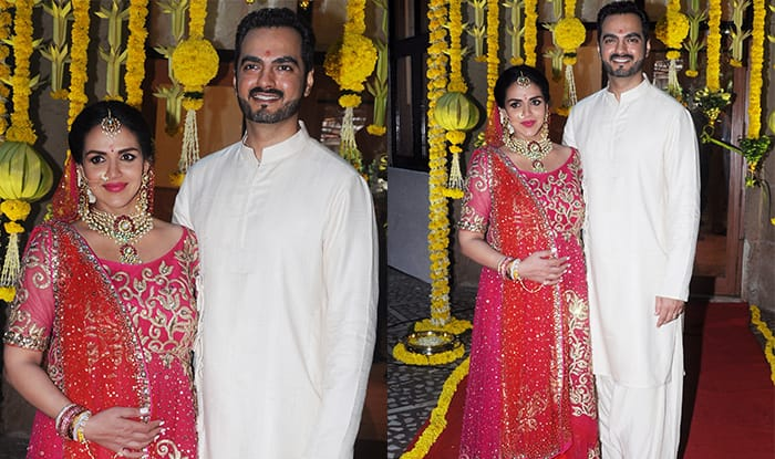 Esha Deol Looks Stunning As She Gets Ready To Get Hitched Yet Again On Her Baby Shower – View HQ Pics