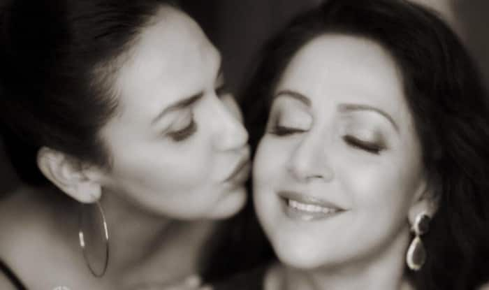 This Monochrome Picture Of Mom-To-Be Esha Deol With Hema Malini Should Be Framed