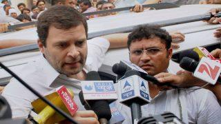 Rahul Gandhi Evades Questions by Media on Karnataka Tax Raids