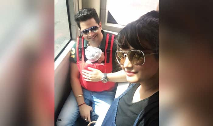 These Pics From Karan Mehra And Nisha Rawal's Newborn Kavish's First Flight Journey Cannot Be Missed – View Pics